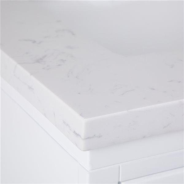 Meuble-lavabo Bristol SIMPLI HOME avec vasque blanc, 24 po