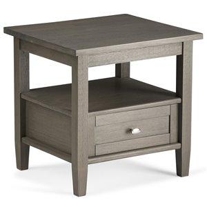 SIMPLI HOME Warm Shaker End Table - Farmhouse Grey