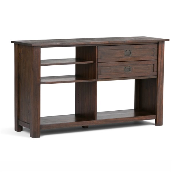 SIMPLI HOME Monroe Console Table 2-Drawers - Brown - 16-in x 52-in