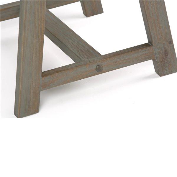SIMPLI HOME Sawhorse End Table - Distressed Grey