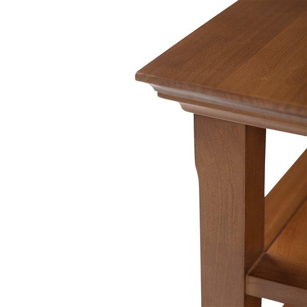 Table d'appoint Acadian SIMPLI HOME, brun miel