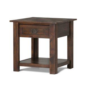 Table d'appoint Monroe SIMPLI HOME, brun charbon