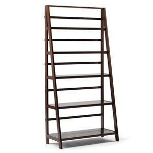 SIMPLI HOME Acadian Wide Bookcase - Tobacco Brown - 72-in x 36-in