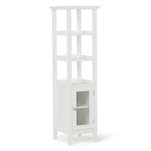 Armoire de rangement pour salle de bains Acadian SIMPLI HOME, blanche