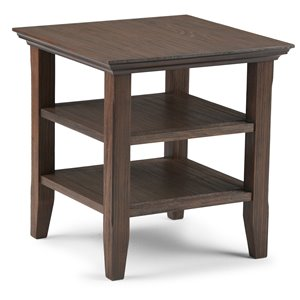 Table d'appoint Acadian SIMPLI HOME, brun campagnard
