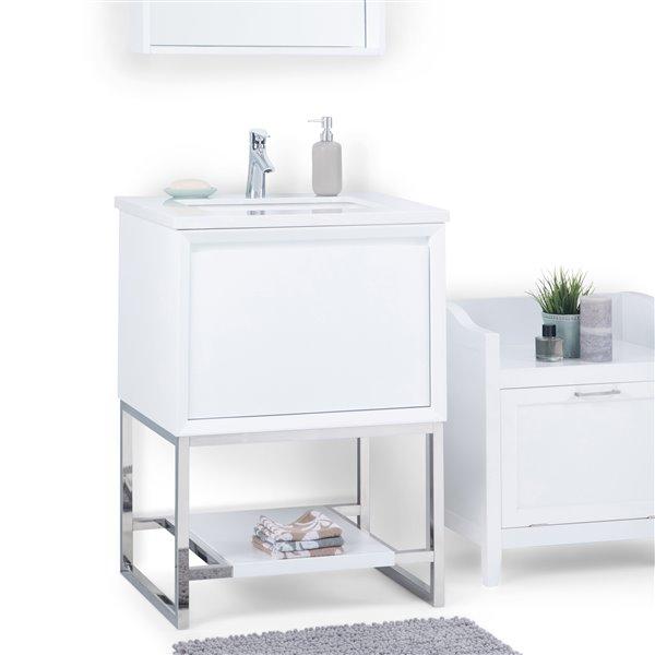 Meuble-lavabo Hardy SIMPLI HOME avec vasque blanc, 24 po