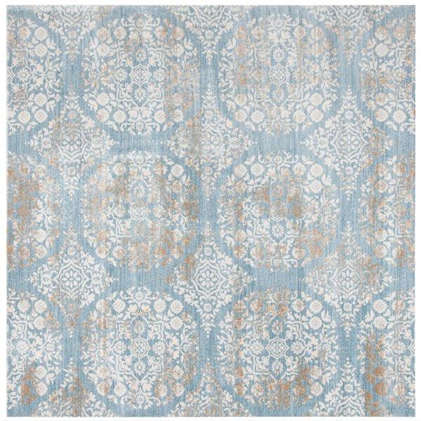 Tapis carré Isabella de Safavieh, 6 pi 7 po x 6 pi 7 po, bleu jean/ivoire