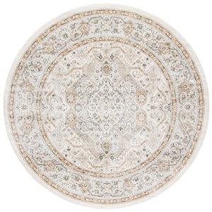 Tapis rond Isabella de Safavieh, 6 pi 7 po x 6 pi 7 po, crème/beige