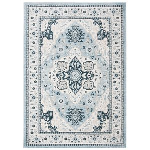Safavieh Isabella Area Rug - 3-ft x 5-ft - Rectangular - Light Blue/Cream