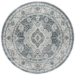 Tapis rond Isabella de Safavieh, 6 pi 7 po x 6 pi 7 po, gris/crème