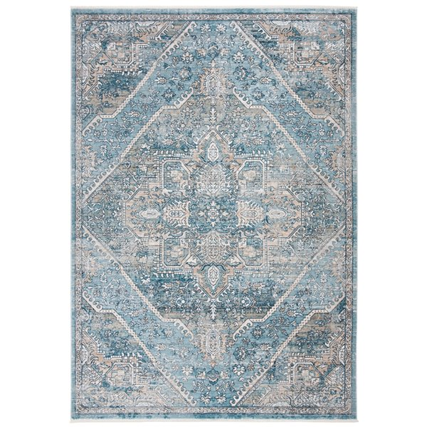 Tapis rectangulaire Victoria de Safavieh, 5 pi x 8 pi, bleu/gris