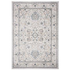 Tapis rectangulaire Isabella de Safavieh, 5 pi 3 po x 7 pi 6 po, gris clair/gris