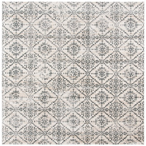 Safavieh Isabella Area Rug - 6-ft 7-in x 6-ft 7-in - Square - Cream/Gray
