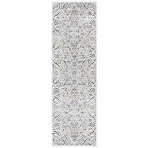 Tapis rectangulaire Isabella de Safavieh, 2 pi 2 po x 7 pi, gris clair/crème