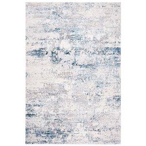 Tapis rectangulaire Amalfi de Safavieh, 3 pi x 5 pi, crème/bleu marine
