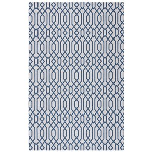 Tapis rectangulaire Augustine de Safavieh, 5 pi x 7 pi 7 po, bleu marine/gris clair