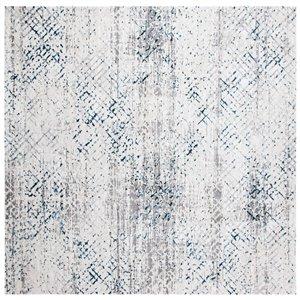 Tapis carré Amalfi de Safavieh, 6 pi 7 po x 6 pi 7 po, crème/bleu marine