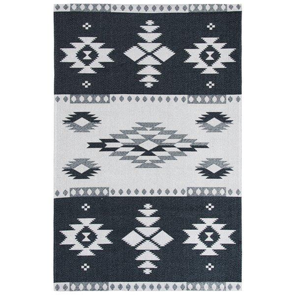 Safavieh Augustine Area Rug - 5-ft x 7-ft 7-in - Rectangular - Black/Light Gray