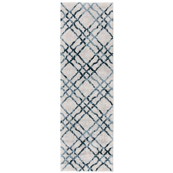 Safavieh Isabella Area Rug - 2-ft 2-in x 7-ft - Rectangular - Ivory/Turquoise