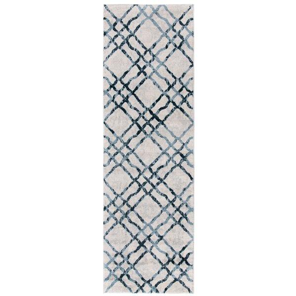 Tapis rectangulaire Isabella de Safavieh, 2 pi 2 po x 7 pi, ivoire/turquoise