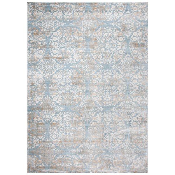 Safavieh Isabella Area Rug - 3-ft x 5-ft - Rectangular - Denim Blue/Ivory