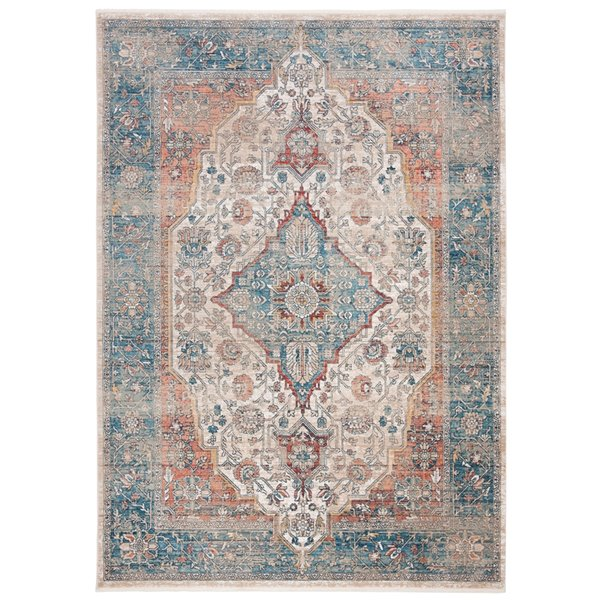 Safavieh Victoria Area Rug - 8-ft x 10-ft - Rectangular - Navy/Ivory