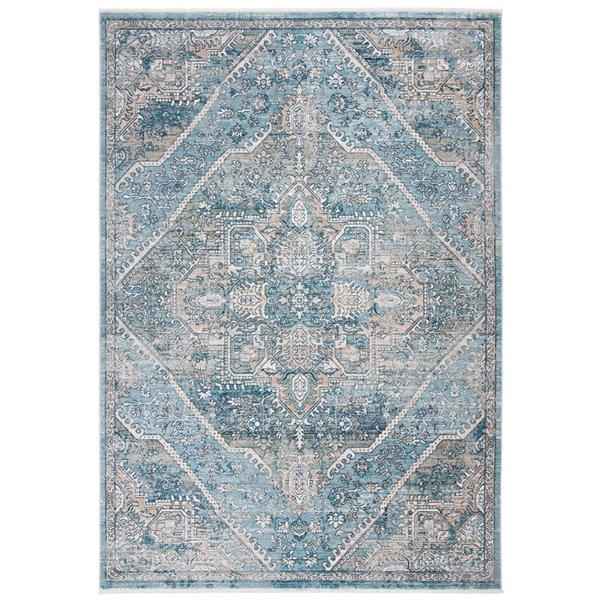 Safavieh Victoria Area Rug - 3-ft x 5-ft - Rectangular - Blue/Gray