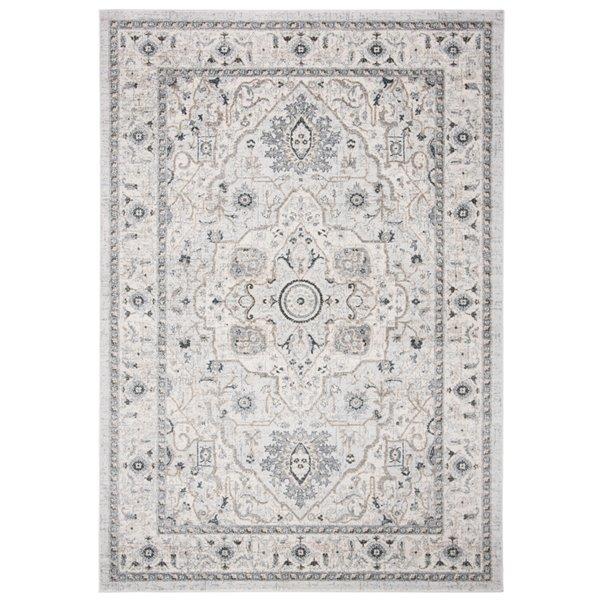 Tapis rectangulaire Isabella de Safavieh, 8 pi x 10 pi, gris clair/gris