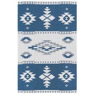 Tapis rectangulaire Augustine de Safavieh, 8 pi 7 po x 12 pi, bleu marine/crème