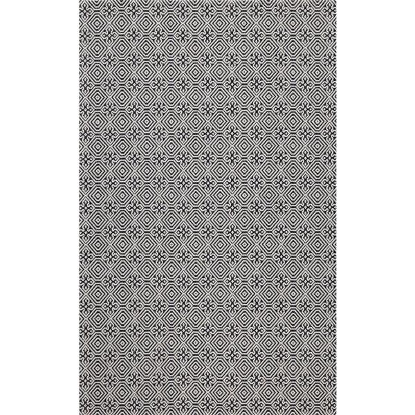 Tapis rectangulaire Augustine de Safavieh, 7 pi 7 po x 10 pi, noir/gris clair