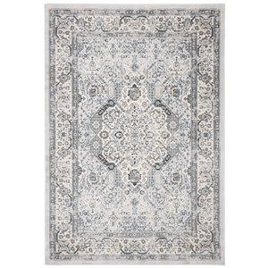 Safavieh Isabella Area Rug - 5-ft 3-in x 7-ft 6-in - Rectangular - Dark Gray/Cream