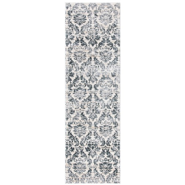 Safavieh Isabella Area Rug - 2-ft 2-in x 7-ft - Rectangular - Gray/Ivory