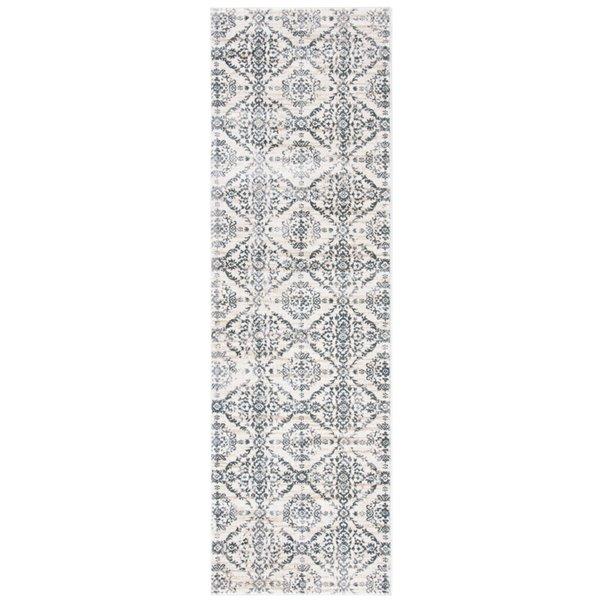 Safavieh Isabella Area Rug - 2-ft 2-in x 7-ft - Rectangular - Cream/Gray