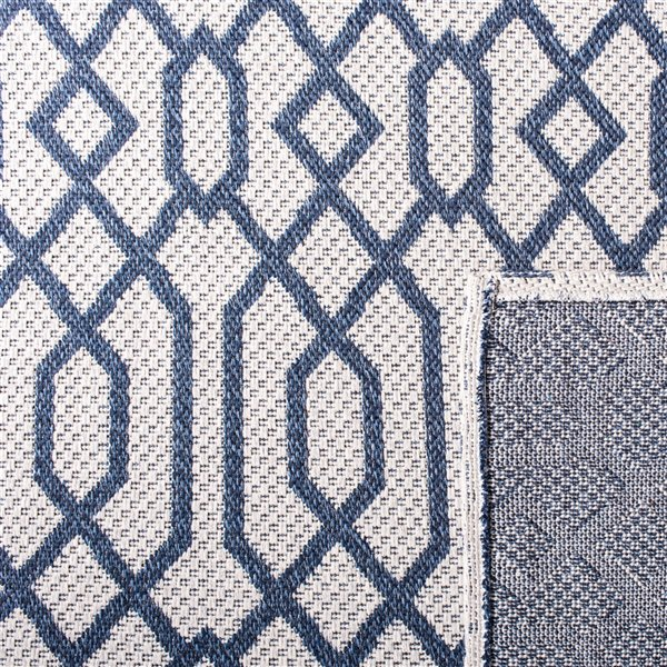 Safavieh Augustine Area Rug - 7-ft 7-in x 10-ft - Rectangular - Navy/Light Gray