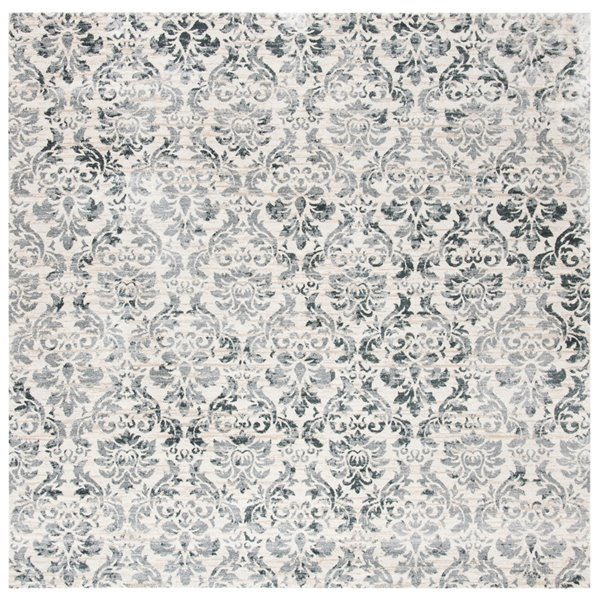 Safavieh Isabella Area Rug - 6-ft 7-in x 6-ft 7-in - Square - Gray/Ivory
