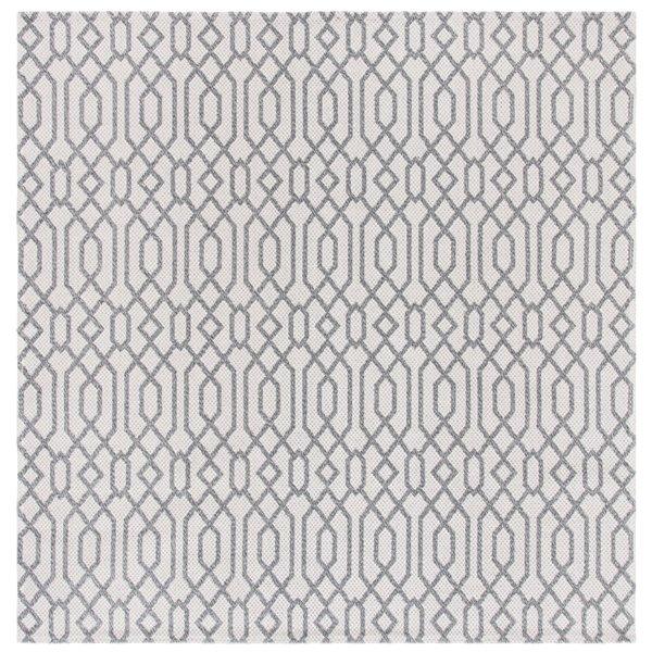 Tapis carré Augustine de Safavieh, 6 pi 4 po x 6 pi 4 po, anthracite/gris clair