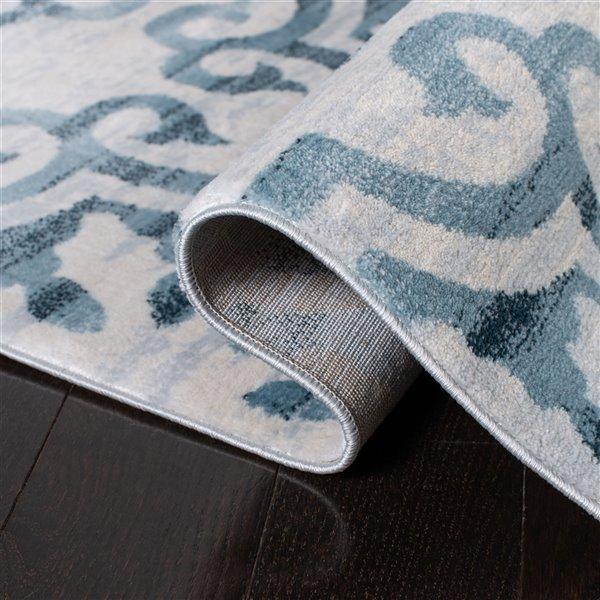 Tapis rectangulaire Isabella de Safavieh, 9 pi x 12 pi, bleu marine/ivoire