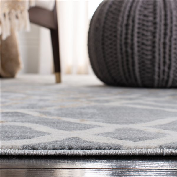 Safavieh Isabella Area Rug - 5-ft 3-in x 7-ft 7-in - Rectangular - Silver/Ivory