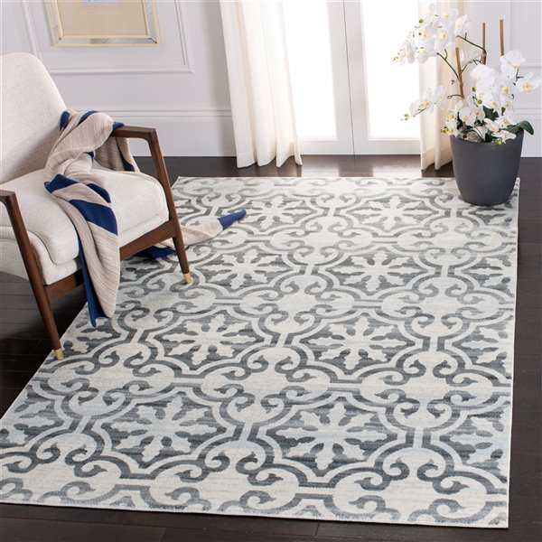Safavieh Isabella Area Rug - 8-ft x 10-ft - Rectangular - Gray/Ivory