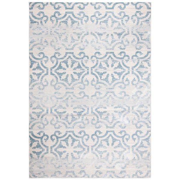 Tapis rectangulaire Isabella de Safavieh, 3 pi x 5 pi, turquoise/ivoire