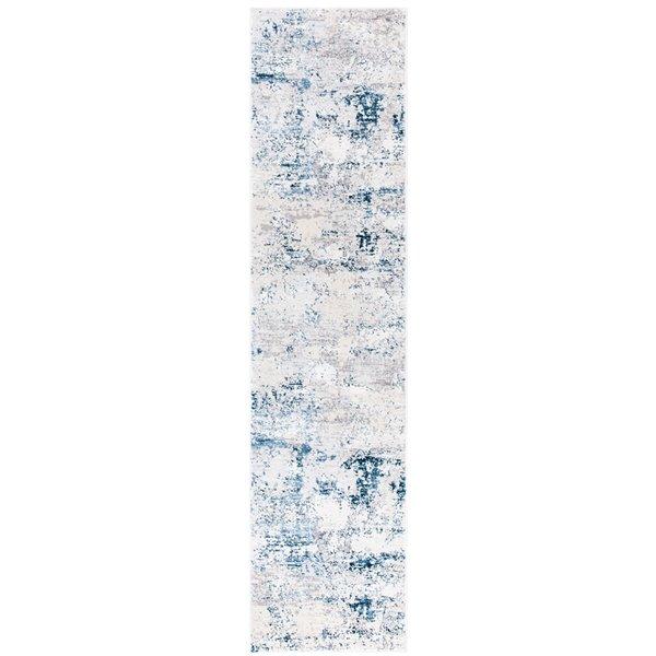 Tapis rectangulaire Amalfi de Safavieh, 2 pi x 8 pi, crème/bleu marine