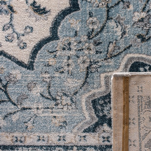 Tapis rectangulaire Isabella de Safavieh, 3 pi x 5 pi, crème/bleu léger