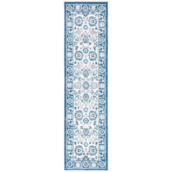 Tapis rectangulaire Liberty de Safavieh, 2 pi x 8 pi, bleu foncé/ivoire