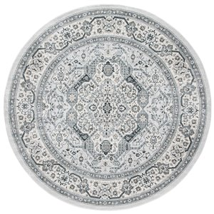 Safavieh Isabella Area Rug - 6-ft 7-in x 6-ft 7-in - Round - Gray/Cream