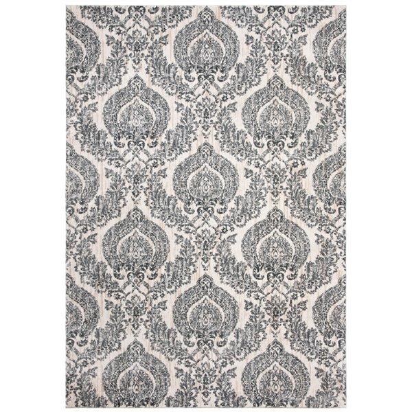 Tapis rectangulaire Isabella de Safavieh, 3 pi x 5 pi, gris/ivoire