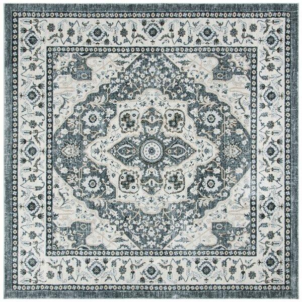 Tapis carré Isabella de Safavieh, 6 pi 7 po x 6 pi 7 po, gris/crème