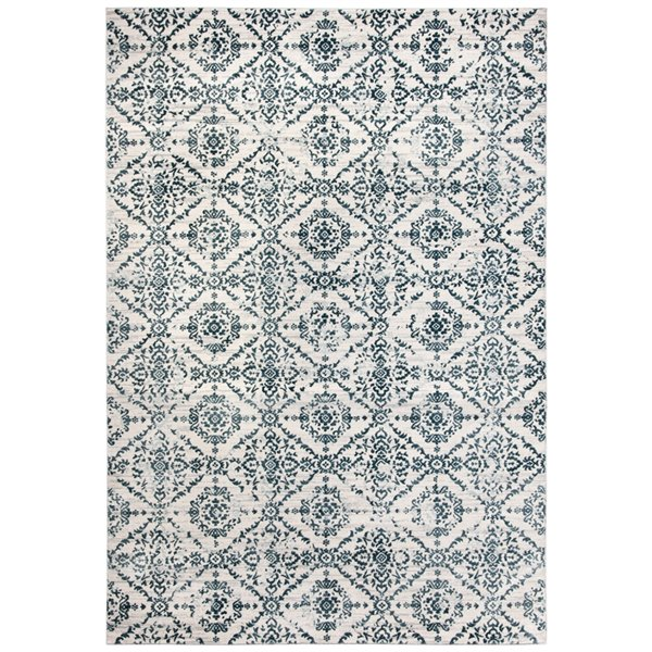 Safavieh Isabella Area Rug - 5-ft 3-in x 7-ft 7-in - Rectangular - Navy/Ivory