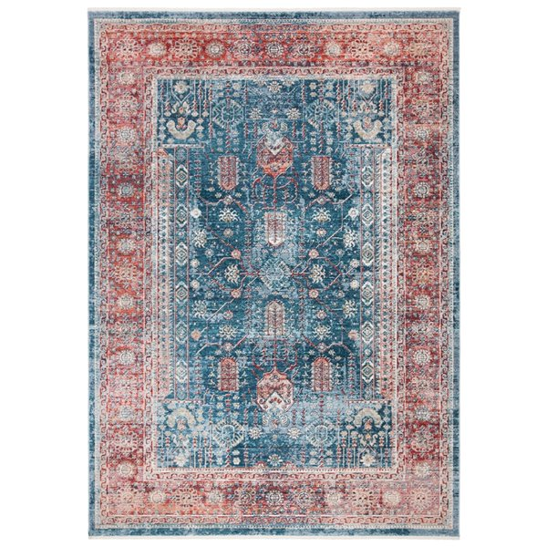 Safavieh Victoria Area Rug - 5-ft x 8-ft - Rectangular - Navy/Red