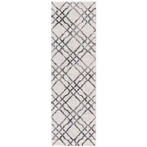 Safavieh Isabella Area Rug - 2-ft 2-in x 7-ft - Rectangular - Ivory/Gray