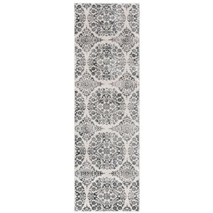 Safavieh Isabella Area Rug - 2-ft 2-in x 7-ft - Rectangular - Charcoal/Ivory